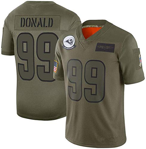 YOYO NFL T-Shirt RAMS # 16# 30# 99 Jersey De Fútbol De Manga Corta Top Deportivo Ropa Deportiva Jersey De Fútbol Verde,Green-99-L