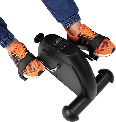 Portable Exercise Bike Pedals Stable Mini Floor Foot Pedal - Durable Leg and Arm Recovery Medical Exerciser (Pedal)