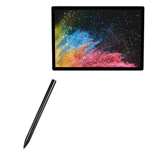 Caneta Stylus Microsoft Surface Book 2 (15 polegadas), BoxWave [ActiveStudio Active Stylus 2020] Stylus eletrônica com ponta ultrafina para Microsoft Surface Book 2 (15 polegadas) - Preto