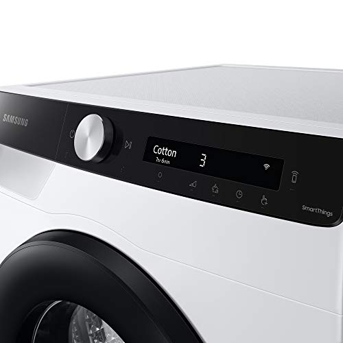 Samsung Elettrodomestici DV90T5240AE/S3 Asciugatrice Ai Control Optimal Dry, Front Load, 9 kg, Bianco