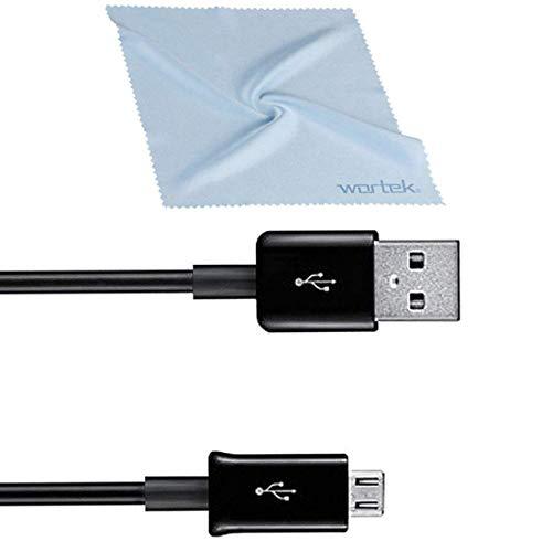 Samsung Kabelset, kompatibel mit Original Micro USB Kabel Ladekabel Schnellladekabel Aufladekabel für Smartphone Handy Datenkabel ECB-DU4EBE 1,5m Schwarz inkl. wortek Displayputztuch