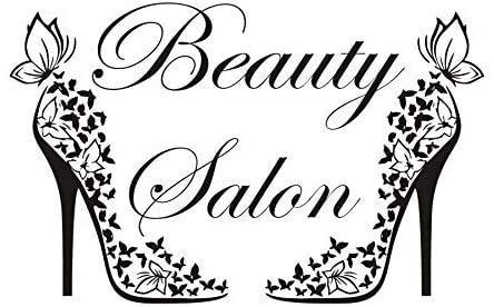 Salón De Belleza Mariposas Creativas Zapatos Pegatina De Pared Vinilo Extraíble Decoración...