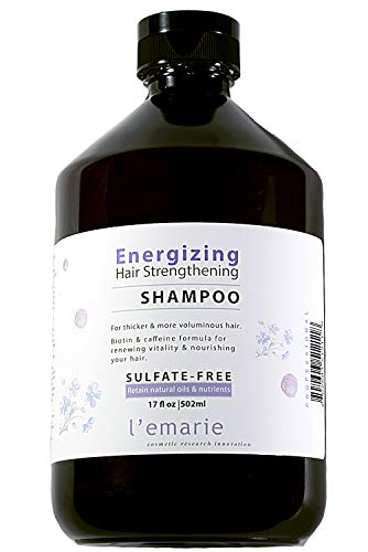 L'emarie Energizing Sulfate Free Shampoo Invigorate & Strengthen Hair, Thinning Therapy with Biotin, cafeine and Natural Ingredients for Men and Women 17oz