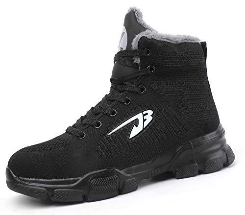 [EVIICC] 安全靴 作業靴 メンズ レディース つま先保護 ハイカット 耐磨耗 熔接 ハイキングシューズ 裏起毛 ムートン スニーカー 登山靴 防滑 軽量 新番登場