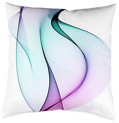 Home Fashion Kissenhülle Digitaldruck, Samt, Multicolor, 1 x 40 x 40 cm
