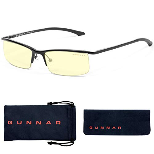 Gaming Glasses | Blue Light Blocking Glasses | Emissary/Onyx by Gunnar | 65% Blue Light Protection, 100% UV Light, Anti-Reflective To Protect & Reduce Eye Strain & Dryness