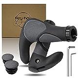 May-Kon Bike® Premium Fahrradgriffe [2X] Hochwertige Fahrrad Lenkergriffe Ergonomisch Griffe für Mountainbike, E-Bike, Scooter u.v.m. aus rutschfestem Gummi