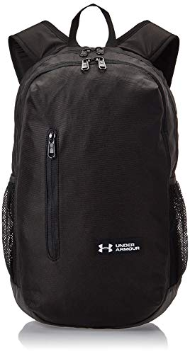 Under Armour UA Roland Backpack Mochila, Unisex, Negro (Black/Black/Silver), Talla única