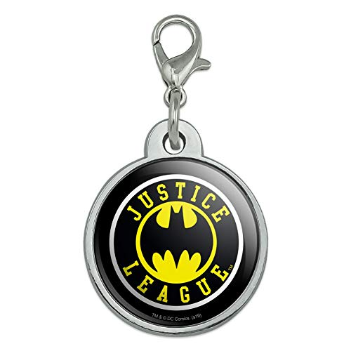 GRAPHICS & MORE Justice League Batman Athletic Logo Chrome Plated Metal Pet Dog Cat ID Tag