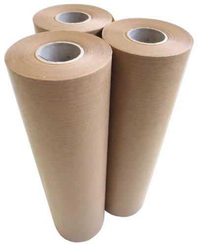 Papierrollen 3 Stück 450mmx50m ca. 40g/m² braun Profi Qualtiät Malerabdeckpapier Abdeckpapier