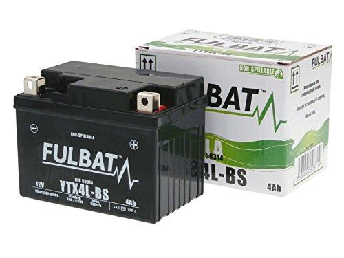 Batterie Fulbat YTX4L-BS Gel für ATU Luxxon 25 2T Uno Bj. 2014-2015 inkl. 7,50 EUR Batteriepfand
