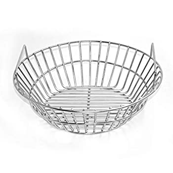 onlyfire Stainless Steel Charcoal Ash Basket Fits for Large Big Green Egg Kamado Joe Classic and Other Ceramic Grills