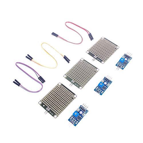 ANGEEK 3 Stk. Regensensor Regentropfen Regen Sensor Modul für Arduino Raspberry PI