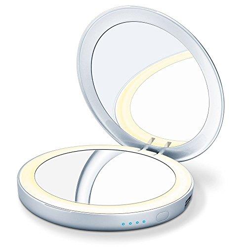 Beurer BS39 Espejo de maquillaje con luz led y batería externa para móvil 🔥