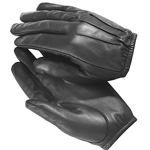 QUALITY WEARS USA Driving Cut Resistant Leather Gloves Tactical Police Patrol Duty Search Gloves (M)