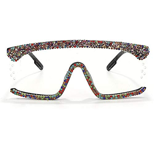 Occhiali da Sole Sunglasses Occhiali da Sole Oversize Occhiali da Sole da Donna One Piece Diamond Occhiali da Sole con Strass Square Occhiali da Sole da Uomo Luxury Luxury Eyewear Uv400 8