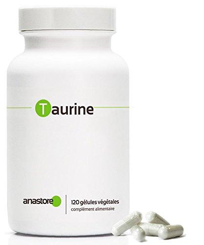 TAURINE * 500 mg / 120 gélules végétales * Pureté garantie supérieure à 99% * Stress, Surmenage, Carence en magnésium, Sport
