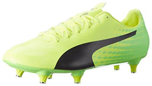 PUMA Evospeed 17.4 SG Mens Soccer Cleats Soft Ground-Yellow-10.5