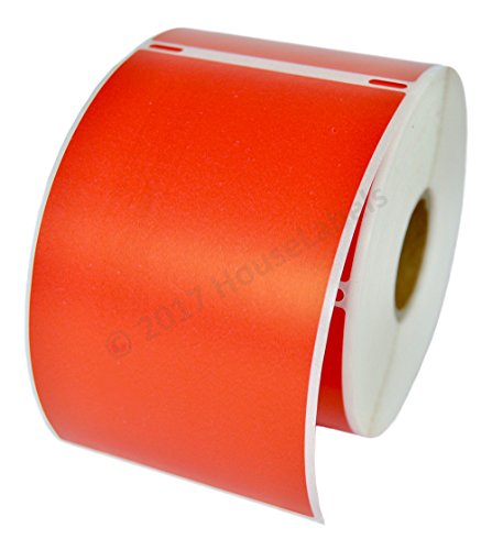 """HOUSELABELS Compatible DYMO 30256 RED Shipping Labels (2-5/16"""" x 4"""") Compatible with Rollo, DYMO LW Printers, 1 Roll / 300 Labels per Roll"""