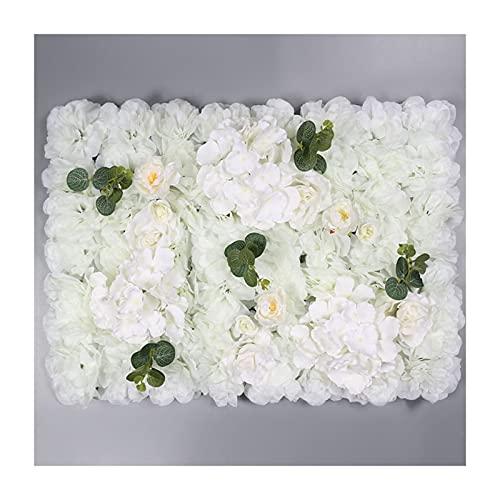 YNGJUENCP Paneles De Pared De Flores Artificiales 6 Paquete De 16 X 24 Paneles De Flores De Rosa De La Pared De La Pared De La Pared De La Flor para El Telón De Fondo Decoración (Size:20pcs,Color:01)