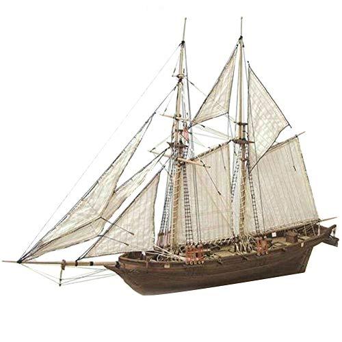 Okssud Modelos de Barcos de Madera, Kit de Barco de Madera de Bricolaje, DIY Maqueta de Barco Decoración Juguetes Educativos Regalos para niños