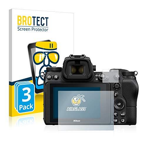 BROTECT Panzerglas Schutzfolie kompatibel mit Nikon Z 6 / Z 7 (3 Stück) - AirGlass, extrem Kratzfest, Anti-Fingerprint, Ultra-transparent