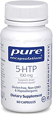 Pure Encapsulations - 5-HTP (5-Hydroxytryptophan) 100 mg - Hypoallergenic Dietary Supplement to Promote Serotonin Synthesis - 60 Capsules