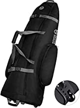OutdoorMaster Padded Golf Club Travel bag with Wheels, 900D Heavy Duty Oxford Waterproof -Alligators - Black