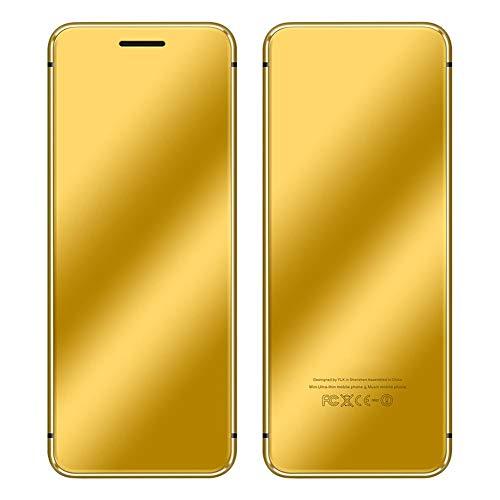 Teléfono Celular, Mini teléfono V66 + de la Tarjeta SIM de la Ranura para Tarjeta Dual para los Estudiantes para los niños para la Escuela(Golden)