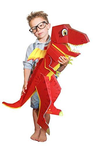 Der kleine Knick Patentierte Schultüte - Drache Dragobert - 100cm - Drache - Dino rot roter - 1 Stück