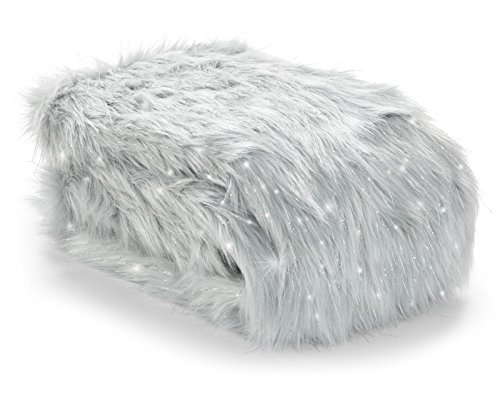 Catherine Lansfield Metallic Fur Throw Silver, 130x170cm