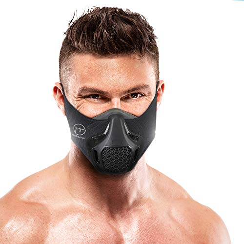 FITGAME Workout Mask | 24 Breathing Resistance Levels - Fitness Mask | Training in High Altitude Simulation - Increase Cardio Endurance | Bonus Sport Bracelet and Box Included (Black)