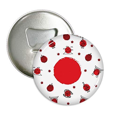 Bandera de Japón cultura nacional farol redondo abridor de botellas nevera Imán...