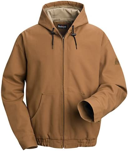 Bulwark Flame Resistant 11.5 oz Cotton/Nylon Excel FR ComforTouch Brown Duck Hooded Jacket