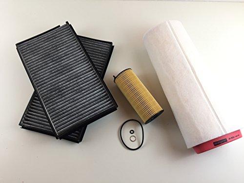 Ölfilter Luftfilter Aktivkohlefilter 5er E60 E61 520d 130 KW / 177 PS fü 120 KW / 163 PS nur für Motorcode N47 D20 A/C