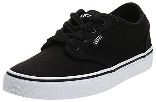 Vans Atwood Sneaker, Unisex niños, Negro (Canvas Black/White 187), 32.5 EU