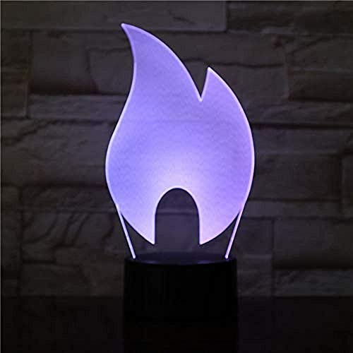 3D Abstract Fire Flame Design Led Night Lamp Acrylic Plate Led Touch Base Gifts