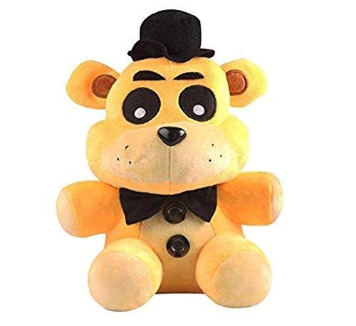 1Pcs 18Cm Five Nights at Freddy FNAF Freddy Fazbear Bear & Foxy Knuffels Pop Soft Knuffels Kinderen Speelgoed Geel