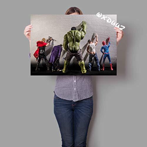 IHlXH Lustiger Held Toilettenplakat Familie Wandkunst Dekoration Raumdekoration Bild Joker Anvas Malerei1 50cmx70cm No Frame