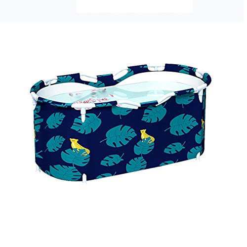 Bañera plegable, baño grande para adultos de longitud completa bañera de hidromasaje, baño simple para niños, Burstab portátil, Easy Home Plegable Cubo plegable Sauna al aire libre Ducha portá