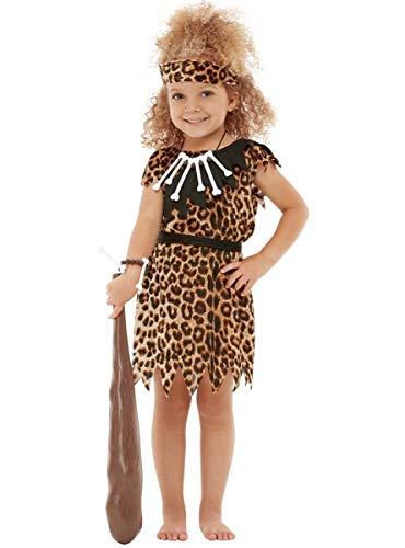 Funidelia | Disfraz de cavernícola para niño y niña Talla 7-9 años ▶ Troglodita, Edad de Piedra, Cavernícolas, Prehistórico - Color: Marrón - Divertidos Disfraces y complementos