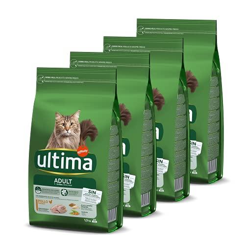 Ultima Cibo per Gatti Adulti con Pollo - Confezione da 4 x 1,5 kg - Totale: 6 kg