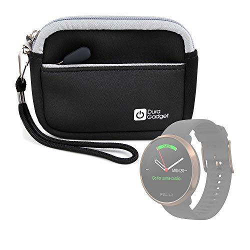 DURAGADGET Estuche De Neopreno Negro Compatible con Smartwatch Suunto Spartan Sport Wrist HR, Suunto 9 Baro, Polar Ignite, Montblanc Summit 2 + Correa Guardar Su Dispositivo!