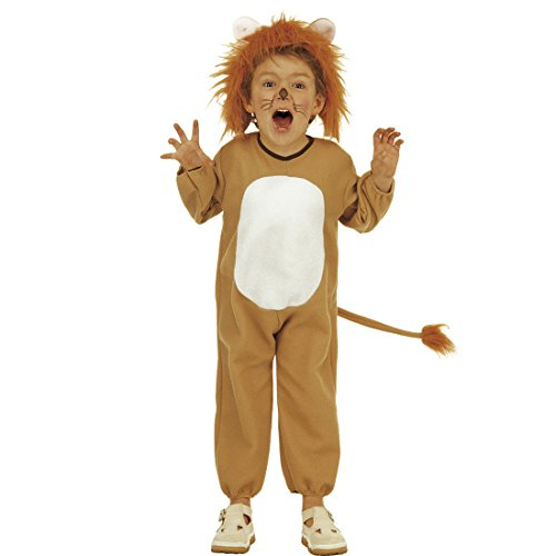 NET TOYS Déguisement de Lion pour Enfant Costume de Fauve 104 cm 3-4 Ans Tenue Roi Lion Enfant prédateur déguisement Carnaval Animaux de la Jungle Habit de Chat Safari Jump Suit Enfant Chat Sauvage