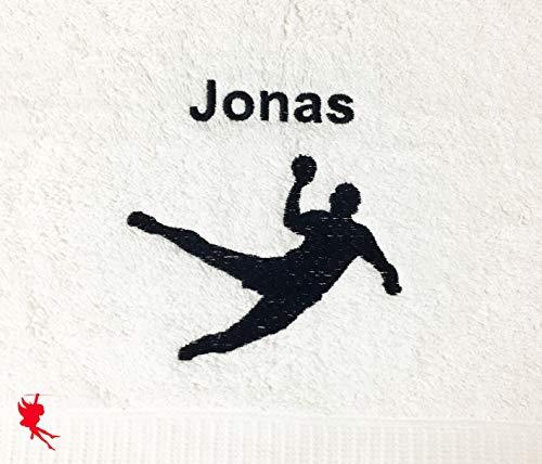 Handball Handtuch bestickt mit Motiv und Name