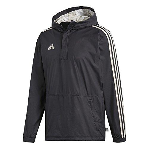 adidas Men's Soccer Tango Windbreaker (Large) Black