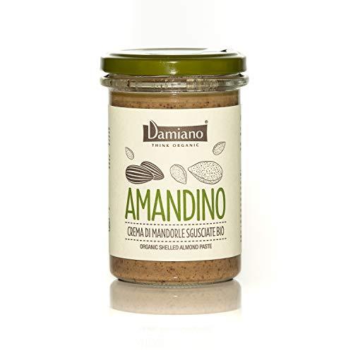 Crema Spalmabile di Mandorle Sgusciate, 100% Biologiche - Senza Glutine e Vegan Friendly - Vasetto da 275g