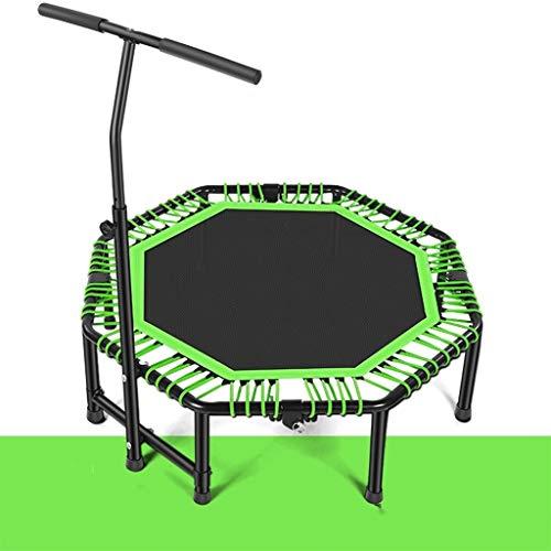 OFFA Trampolin Cama Elastica Fitness 48' Plegable Trampolín, Trampette Ejercicio Trampolines for Adultos De Los Niños De Interior/Jardín Entrenamiento De Carga Máxima De 400 Kg