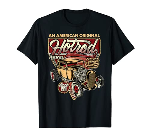 Camisa vintage Hot Rod Speed and Power para hombres Camiseta