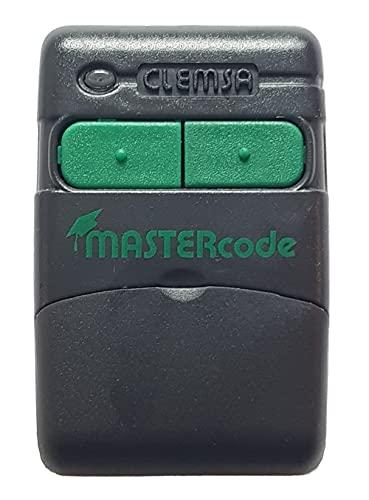CLEMSA Mastercode MV12 D - Autocopiable 2 Canales Código Fijo - Compatible con Modelos Mastercode MV1 y MV12 - Mando Garaje de Puertas Automáticas con Copia del Código del Instalador de 433.92 Mhz